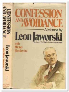 confession and avoidance leon jaworski signed memoir book