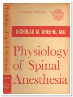 physiology of spinal anesthesia greene vintage medical book