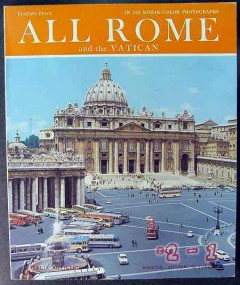 all rome and the vatican color photographs italy travel book