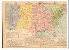 commercial vintage map of the united states 1882