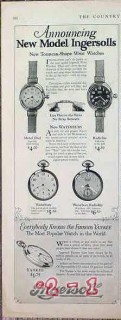 ingersoll watches 1926 announcing new model ingersolls vintage ad