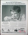 bristol-myers 1940 bob cant plan budget ipana tooth paste vintage ad