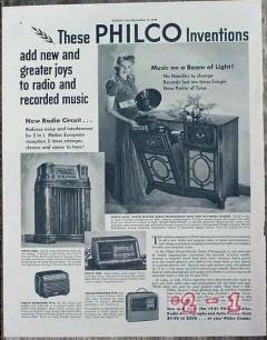 philco 1940 beam of light inventions add new joys radio vintage ad