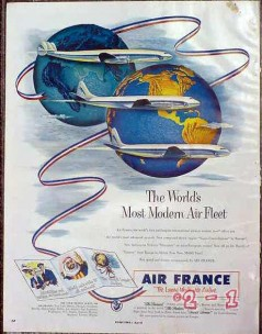 air france 1953 the worlds most modern air fleet vintage ad