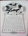 a b dick company 1934 wings for new day mimeograph vintage ad