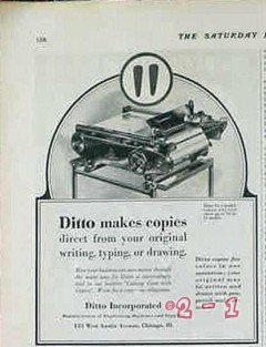 ditto inc 1928 make copies direct from original vintage ad