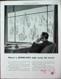 american telephone telegraph 1940 super city across street vintage ad