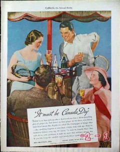 canada dry 1934 tennis ginger ale soda pop vintage ad