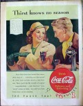 coca cola 1940 coke soda fountain thirst knows no season vintage ad