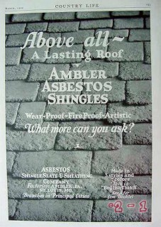 asbestos shingle slate sheathing 1929 ambler lasting roof vintage ad