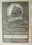 prudential insurance company 1904 dividends whole family vintage ad