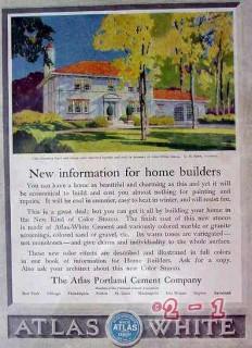 atlas portland cement company 1929 new info home builders vintage ad