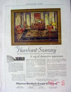 bigelow hartford carpet 1929 saxony rug distinct appearance vintage ad