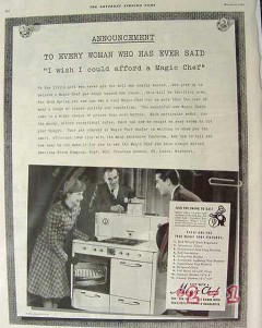 american stove company 1940 wish afford magic chef range vintage ad
