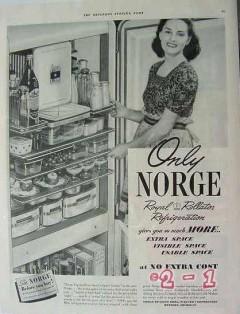 borg warner company 1940 norge royal rollator refrigeration vintage ad