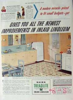 congoleum nairn inc 1940 improvements in inlaid linoleum vintage ad