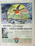 greyhound 1940 ride with spring through winter weather bus vintage ad