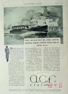 american car foundry 1929 dunes fly by goose hangs high vintage ad