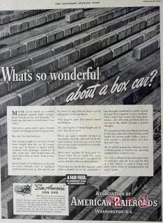association of american railroads 1940 wonderful box car vintage ad