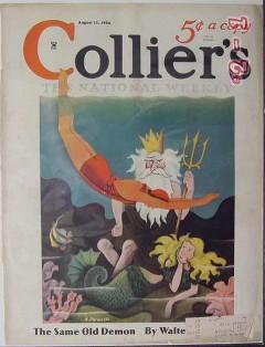 colliers 1934 underwater neptune mermaid a pitraccilli cover