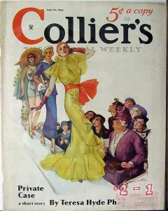 colliers 1934 janice wathen fashion show runway cover print
