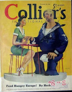 colliers 1940 clay model sailor girl alan foster cover print