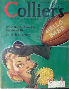 colliers 1940 el gilchrist hello babe football cover print