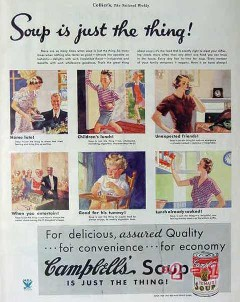 campbells 1934 soup is just the thing vintage ad
