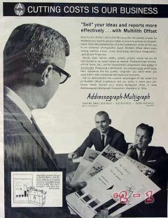 addressograph mulitgraph corp 1961 sell your ideas offset vintage ad