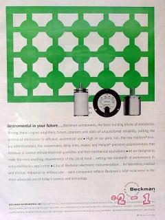 beckman instruments 1961 instrumental in your future vintage ad