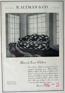 b altman company 1929 marvel ease glider sofa vintage ad