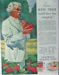campbells soup company 1934 even mark twain been stumped vintage ad