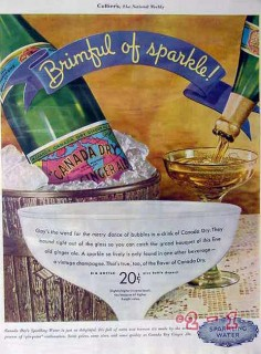 canada dry 1934 brimful of sparkle ginger ale soda pop vintage ad