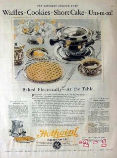 edison electric appliance 1928 baked electrically at table vintage ad