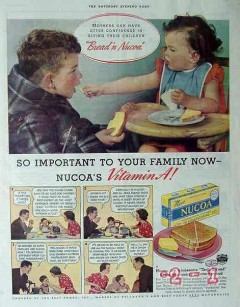 best foods inc 1940 mothers confidence children bread nucoa vintage ad