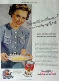 campbells soup 1940 something new cream of mushroom vintage ad
