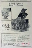 weber piano company 1907 artistic case grand louis xiv vintage ad