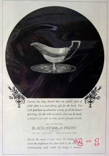 black starr frost jewelers 1924 sterling silver vintage ad