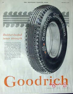 b f goodrich rubber company 1928 silvertowns meet the road vintage ad