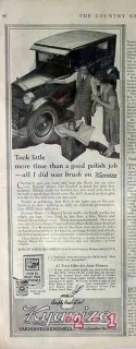 boston varnish company 1926 good polish job kyanize vintage ad