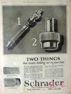 a schraders son inc 1926 two things insure air car tires vintage ad