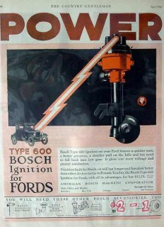 american bosch magneto corp 1926 power 600 ford ignition vintage ad