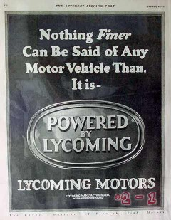 lycoming mfg company 1928 nothing finer said motor vehicle vintage ad
