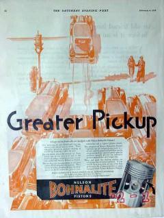 bohn aluminum brass co 1928 greater pickup bohnalite piston vintage ad