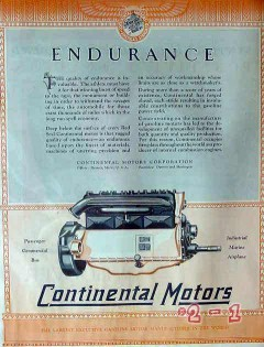 continental motors corp 1928 quality endurance invaluable vintage ad