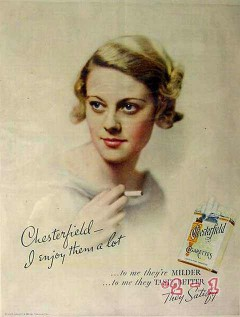 chesterfield cigarettes 1934 liggett and myers vintage ad