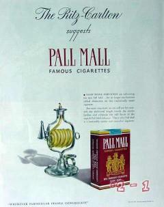 american cigarette cigar company 1940 ritz pall mall vintage ad