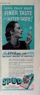 axton fisher tobacco 1940 enjoy spud finer taste cigarette vintage ad