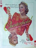 chesterfield cigarettes 1940 queen of hearts vintage ad