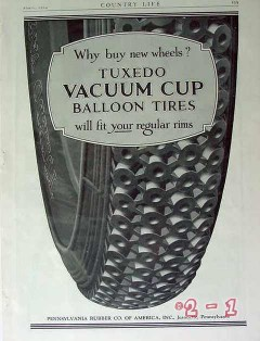 pennsylvania rubber company 1924 why buy new wheels tire vintage ad